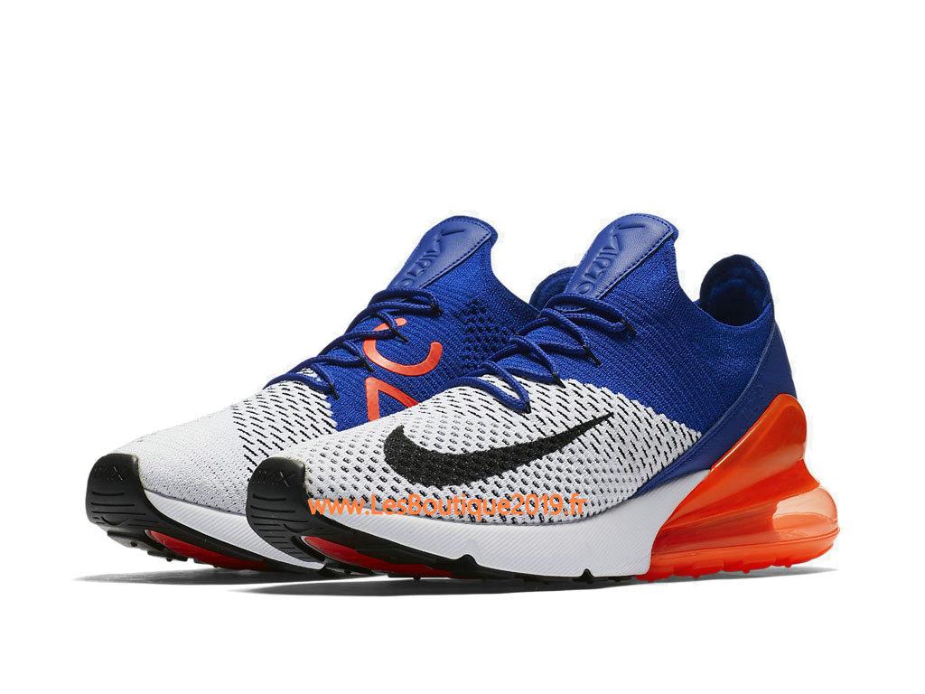 rabais de premier ordre obtenir pas cher performance fiable Nike Air Max 270 Flyknit Bleu Orange Blanc Chaussure de Running Pas Cher  Pour Homme AO1023-101 - 1807090030 - Achetez de Chaussure de Baskets ! Nike  ...