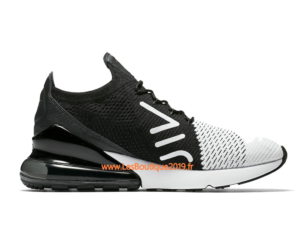 sports shoes e3ebe dfd06 ... Nike Air Max 270 Flyknit Noir Blanc Chaussure de Running Pas Cher Pour  Homme AO1023- ...