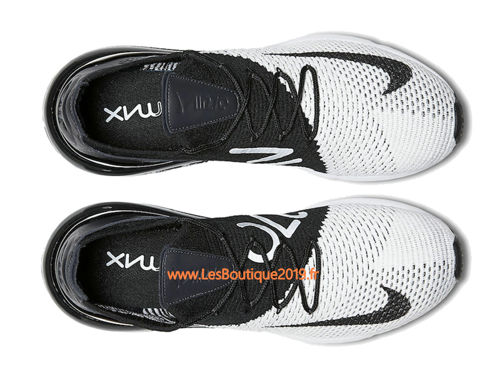sports shoes 17e77 941ee ... Nike Air Max 270 Flyknit Noir Blanc Chaussure de Running Pas Cher Pour  Homme AO1023- ...
