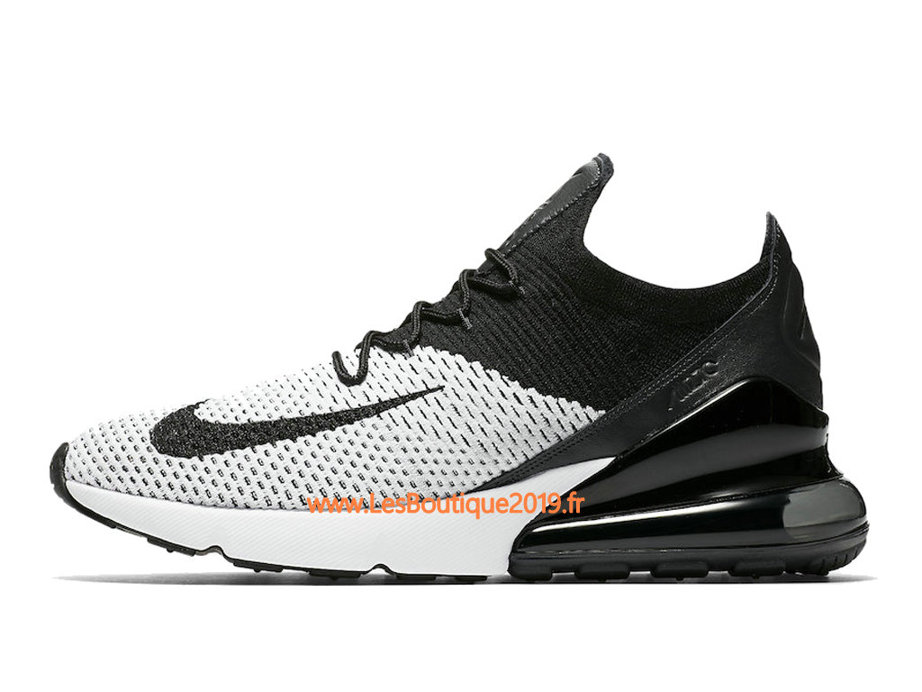 speical offer release info on clearance prices Nike Air Max 270 Flyknit Noir Blanc Chaussure de Running Pas Cher ...