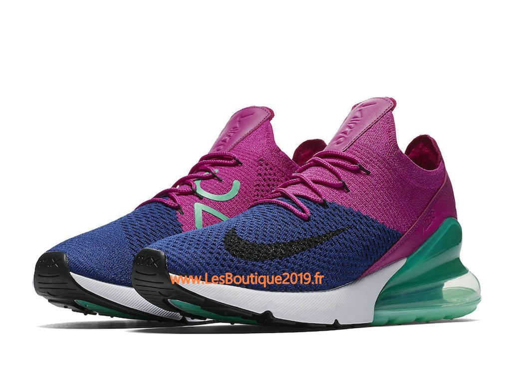 235baf2cad28 ... Nike Air Max 270 Flyknit Rose Vert Chaussure de Running Pas Cher Pour  Homme AO1023- ...