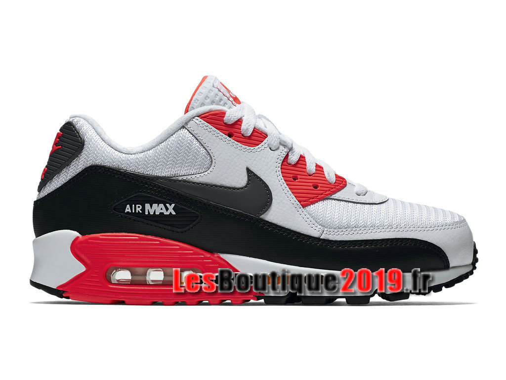 new arrive top quality various design Nike Air Max 90 Essential GS Blanc Rouge Chaussures Nike Running ...