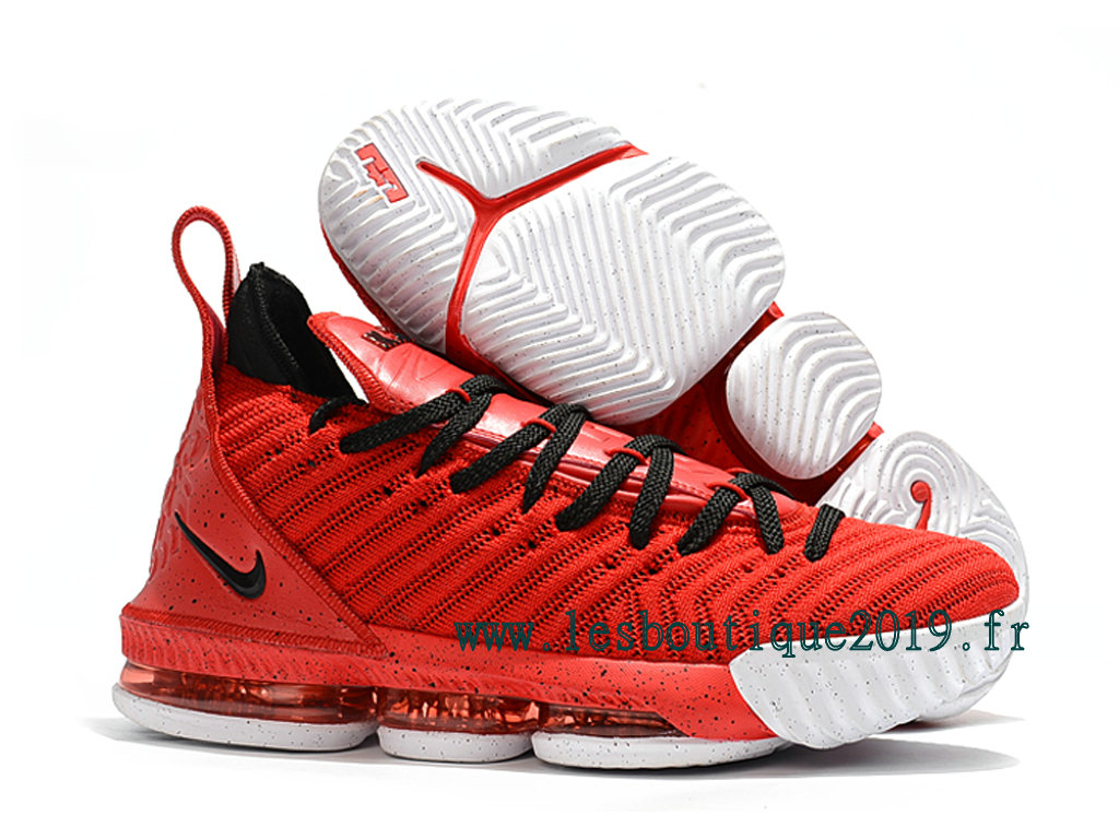Nike LeBron 16 Rouge Noir Chaussures Nike BasketBall Pas